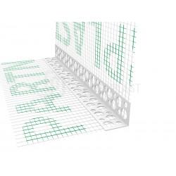 Narożnik PVC perforowany z siatką 200 mm - 2,5m
