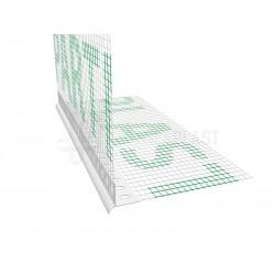 Profil PVC okapowy z siatką - 2,5m