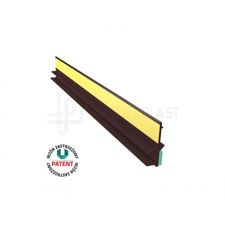 Profil przyokienny w kolorze brąz 6 mm z uszczelką - 3m