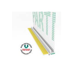 Profil przyokienny biały z uszczelką i siatką (146 g/m2) 6 mm - 3m