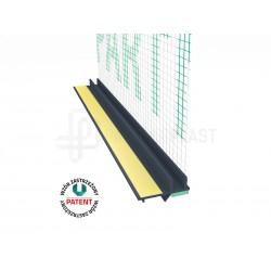 Profil przyokienny w kolorze antracyt z uszczelką i siatką (146 g/m2) 3 m - 3m