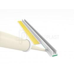 Profil przyokienny biały bez uszczelki 3 mm - 3m