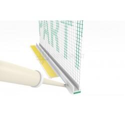 Profil przyokienny biały bez uszczelki z siatką (146 g/m2) 3 mm - 3m