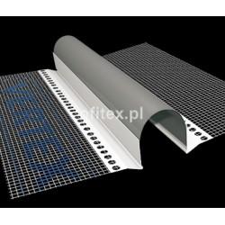 Profil dylatacyjny do elewacji z siatką - prosty - 2m