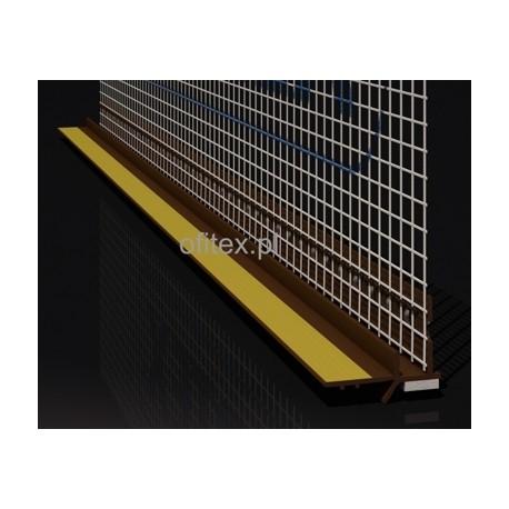 Profil PCV przyokienny z siatką brązowy - 2,5m