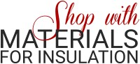Shop with materials for insulation